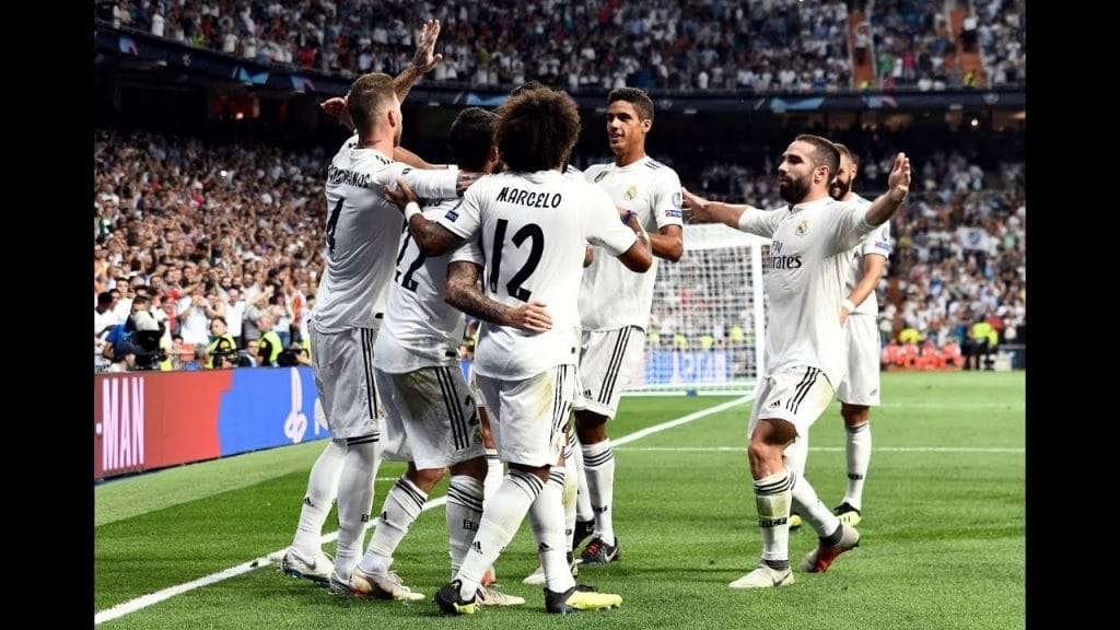 Real Madrid celebrando gol