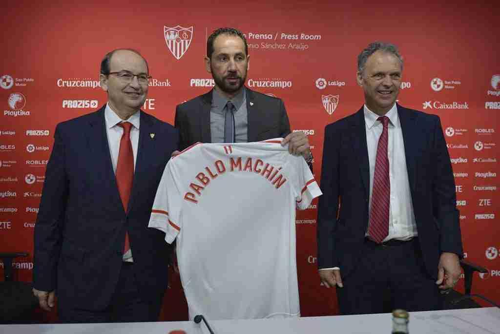 Presentación de Pablo Machín en el Sevilla