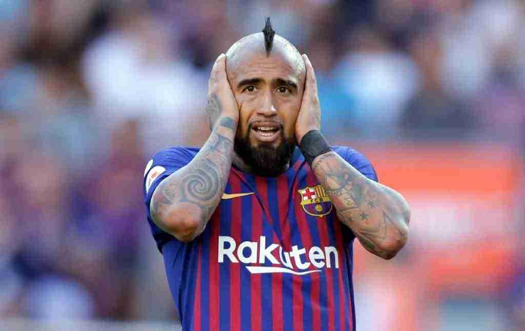 Arturo Vidal se lamenta Barcelona