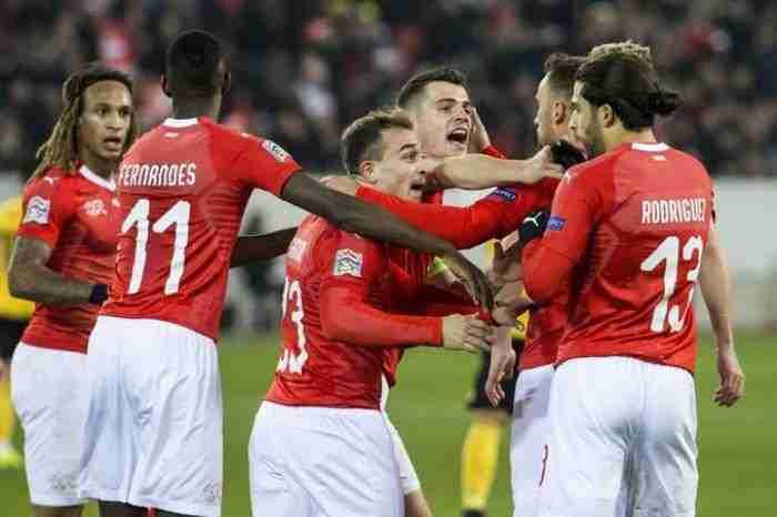 Suiza gana a Bélgica