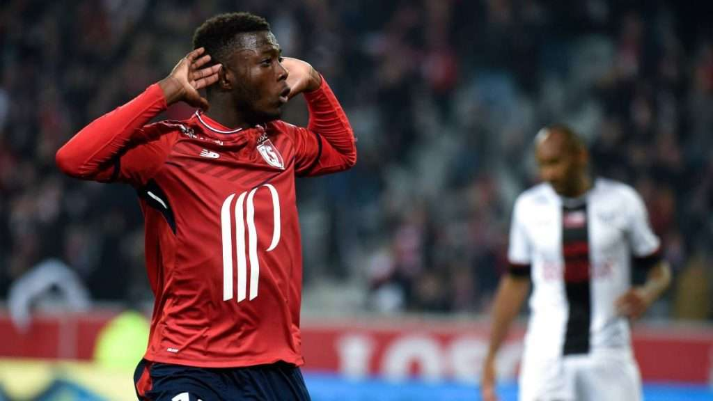Nicolas Pépé celebra gol