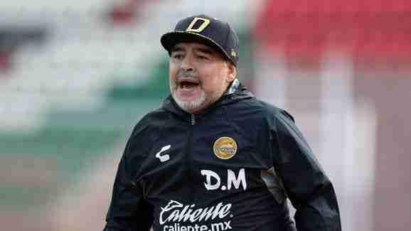 Maradona dirigiendo Dorados Mexico