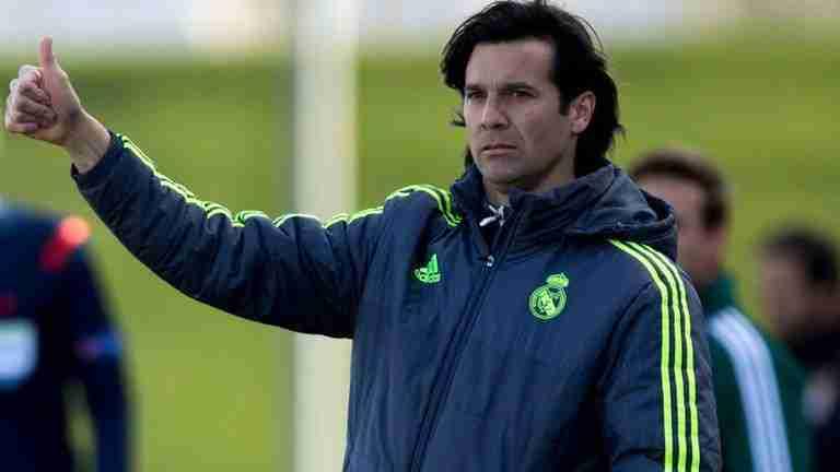 Santiago Solari entrenando Castilla