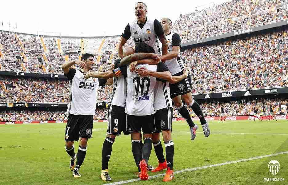 Celebración gol Valencia