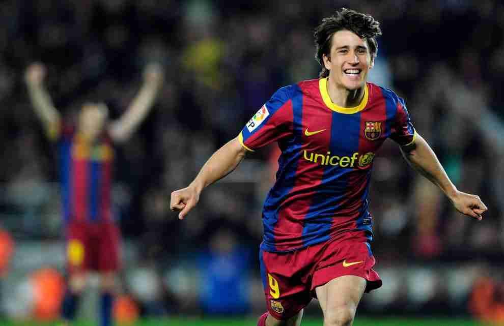Bojan celebra gol Barcelona
