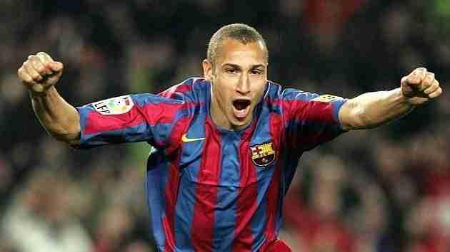 Larsson celebra gol Barcelona