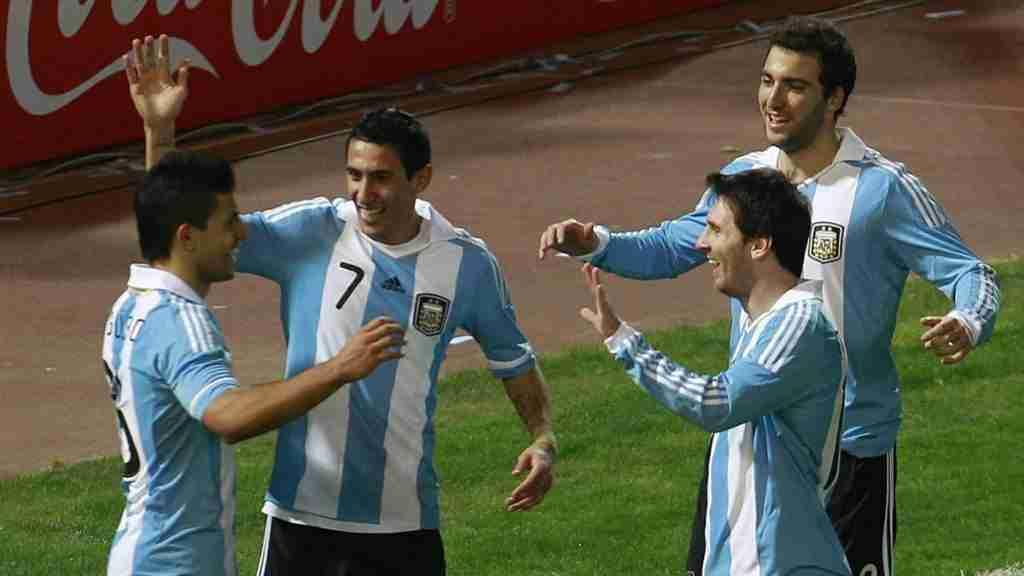Agüero Messi Di Maria e Higuaín Argentina