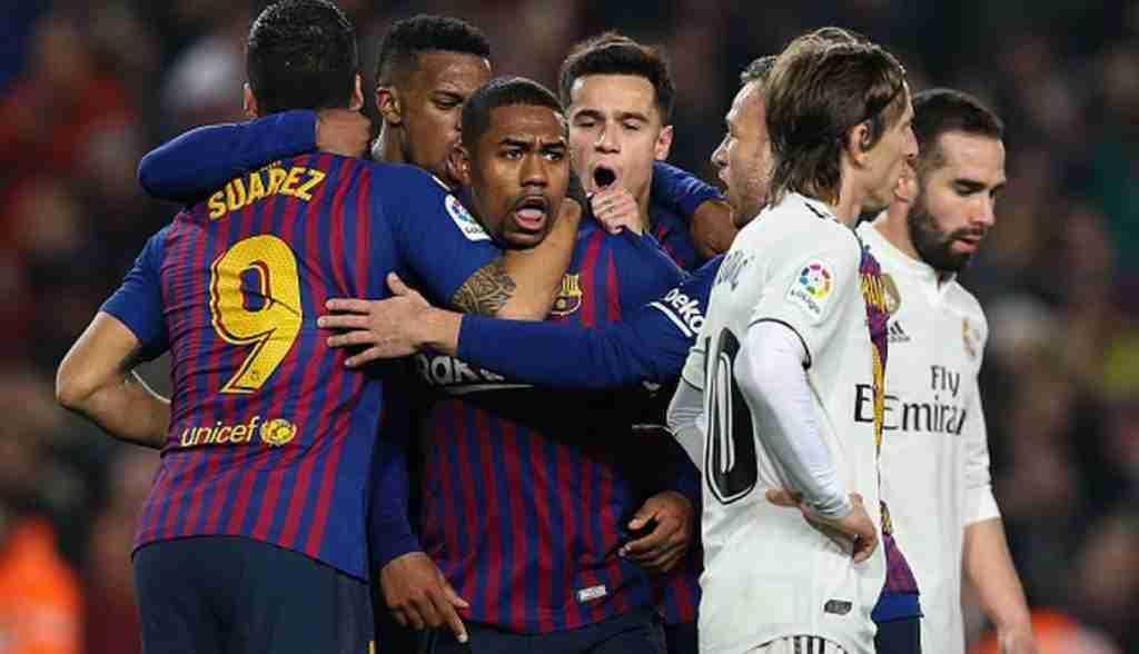 Malcom celebra gol Barcelona Madrid