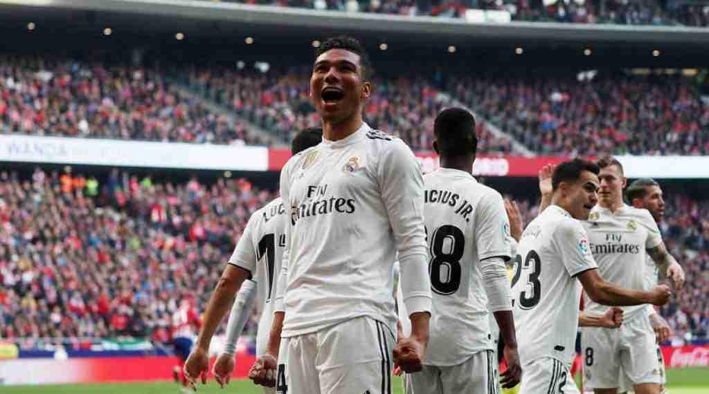 Casemiro celebra gol Real Madrid Atlético Madrid