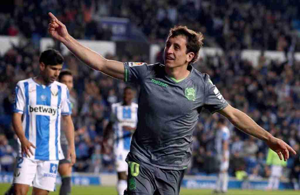 Celebración gol Oyarzábal Real Sociedad