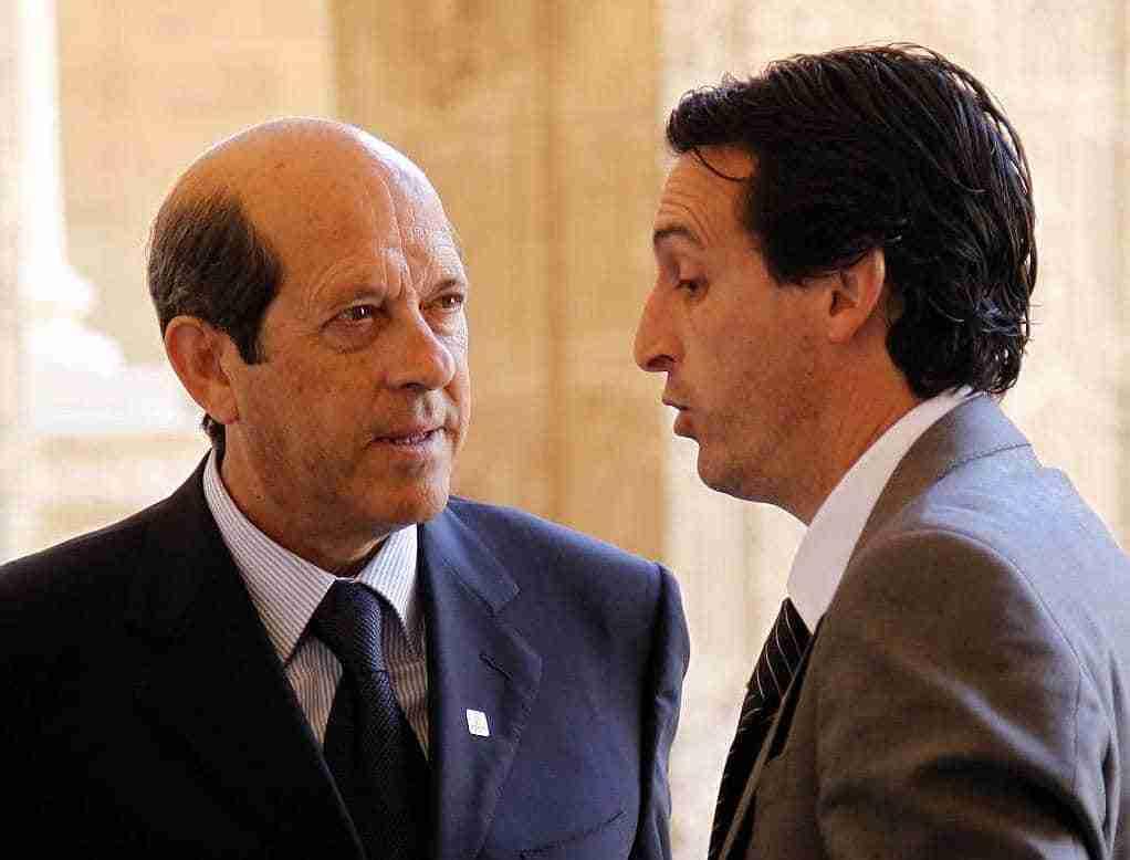Manuel Llorente y Unai Emery