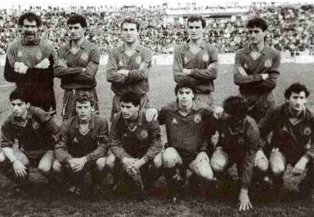 Alineación España Malta 1989