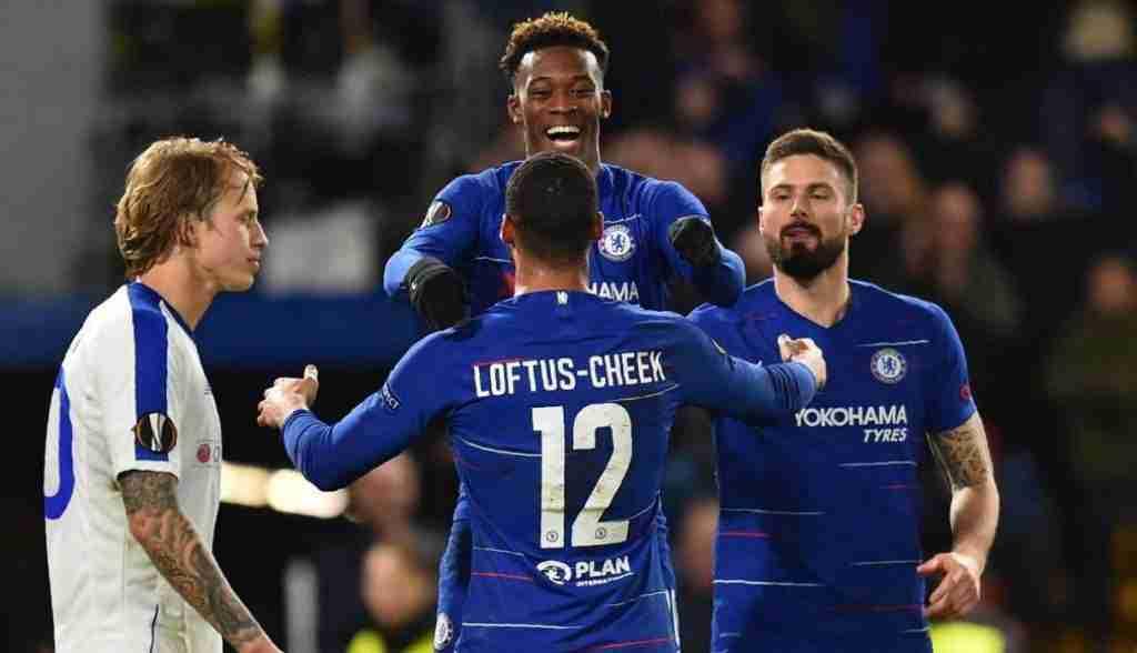 Celebración gol Chelsea