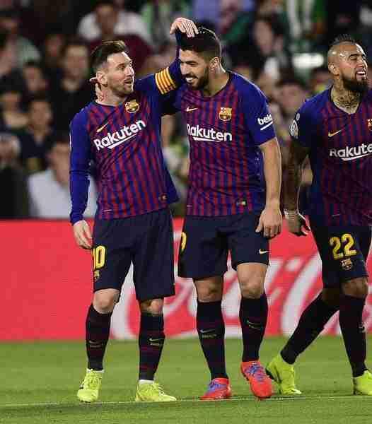 Messi celebra gol Betis Barcelona