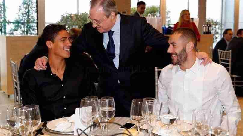 Cena Navidad Real Madrid Florentino Varane Benzema