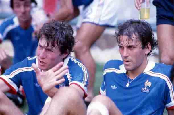 Luis Fernández y Patrick Battiston Mundial 1986
