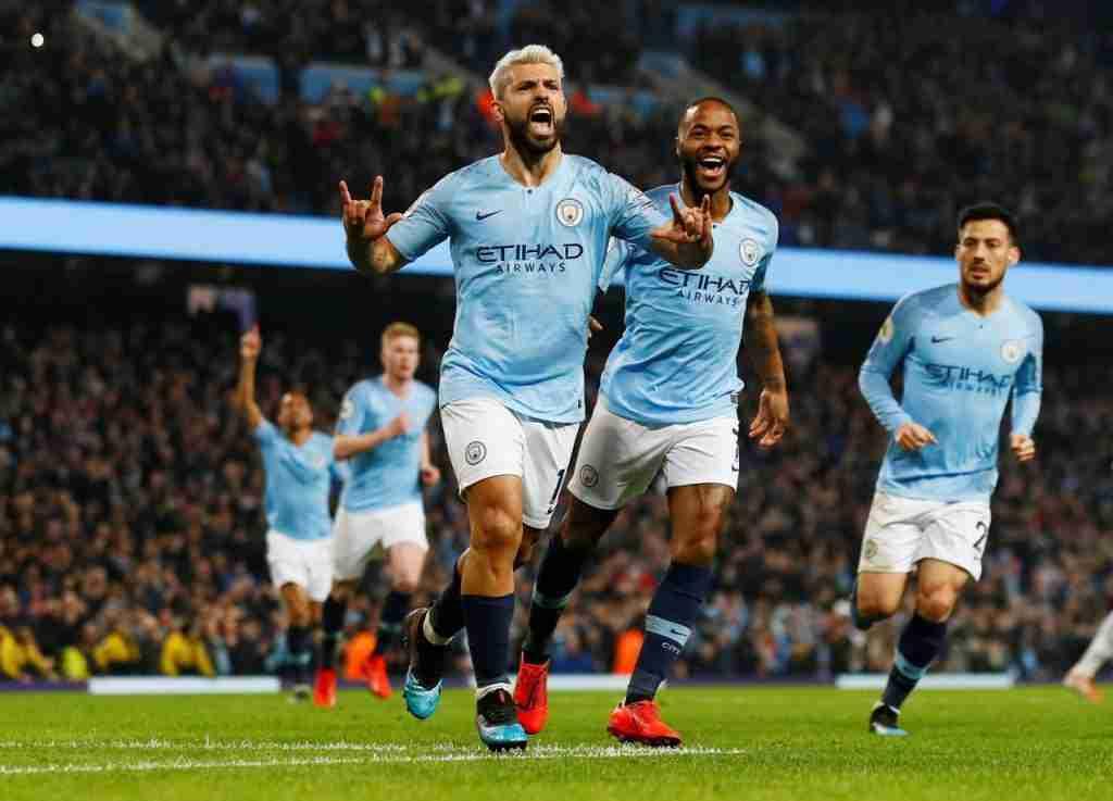 Agüero celebra gol Manchester City