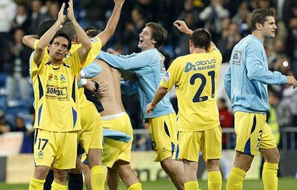 Jugadores celebran el Alcorconazo