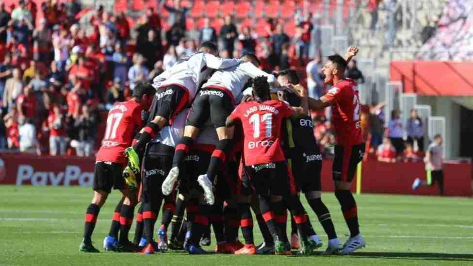 Mallorca celebrando victoria