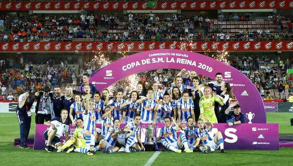 Real Sociedad celebra Copa de la Reina
