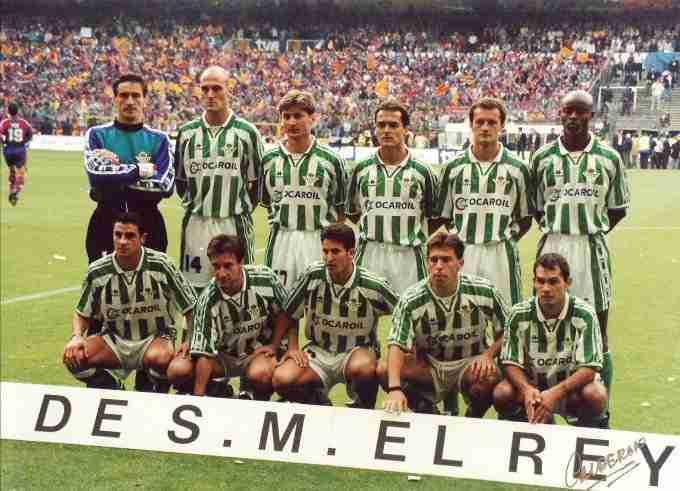 Alineación Betis final Copa del Rey 1997