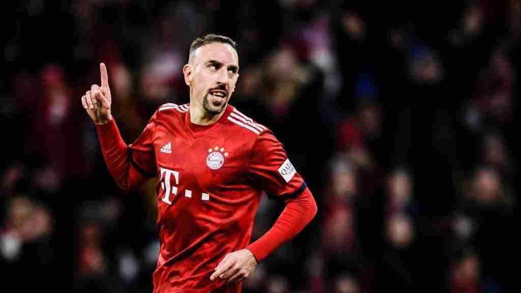 Franck Ribéry celebra gol Bayern de Múnich