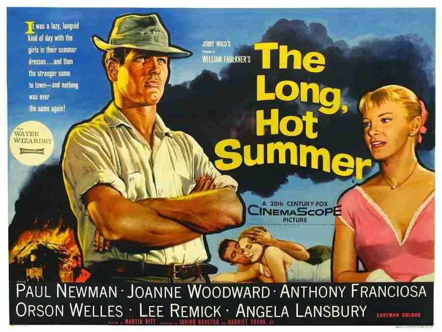 Cartel de la película El largo y cálido verano.