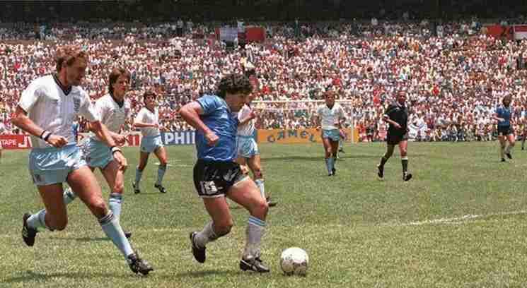 Gol Maradona histórico contra Inglaterra. Mundial México 86.