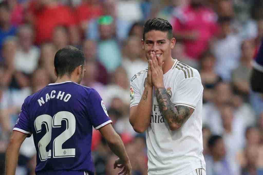 James Rodríguez falla ocasión gol real madrid valladolid
