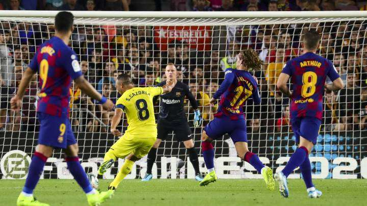 Cazorla gol Barcelona Villarreal