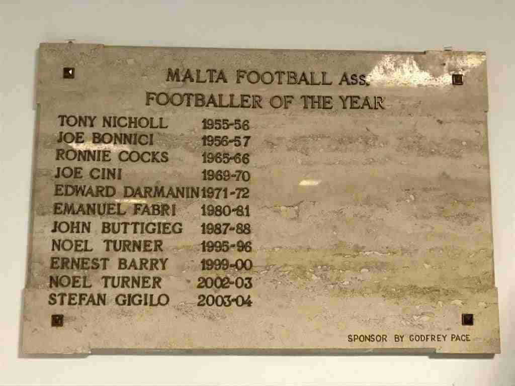 Futbolistas del año Sliema Wanderers