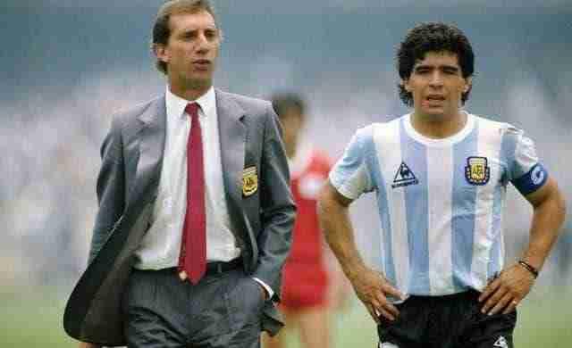 Bilardo y Maradona en el mundial de 1986