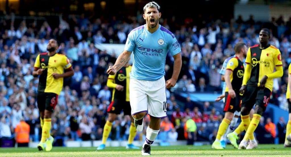 Agüero celebra gol Manchester City Watford