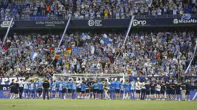 Afición Málaga partido ascenso a Primera Deportivo