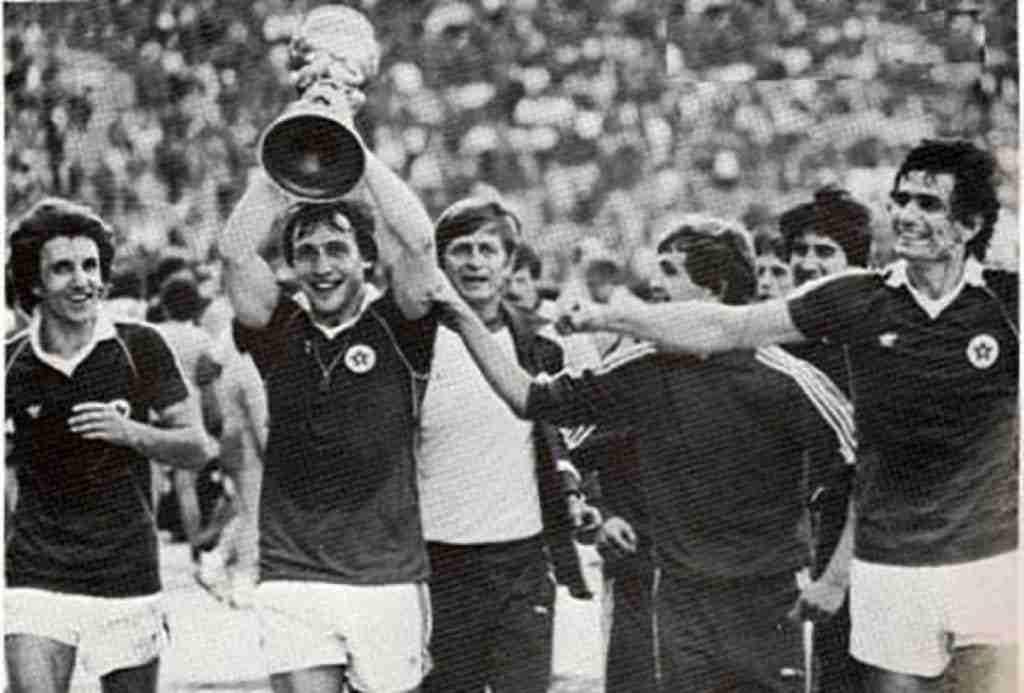 Velez Mostar celebra Copa yugoslava 1986