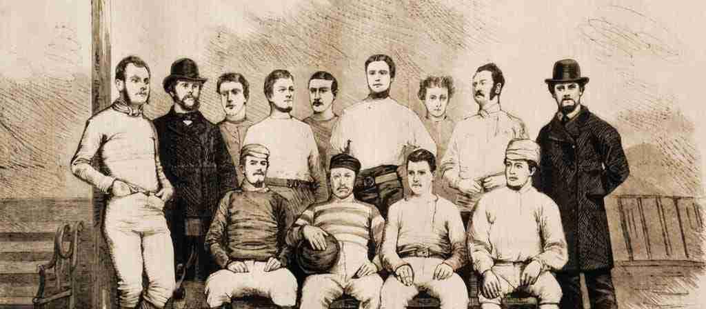 Imagen de uno de los primeros equipos del Sheffield Football Club