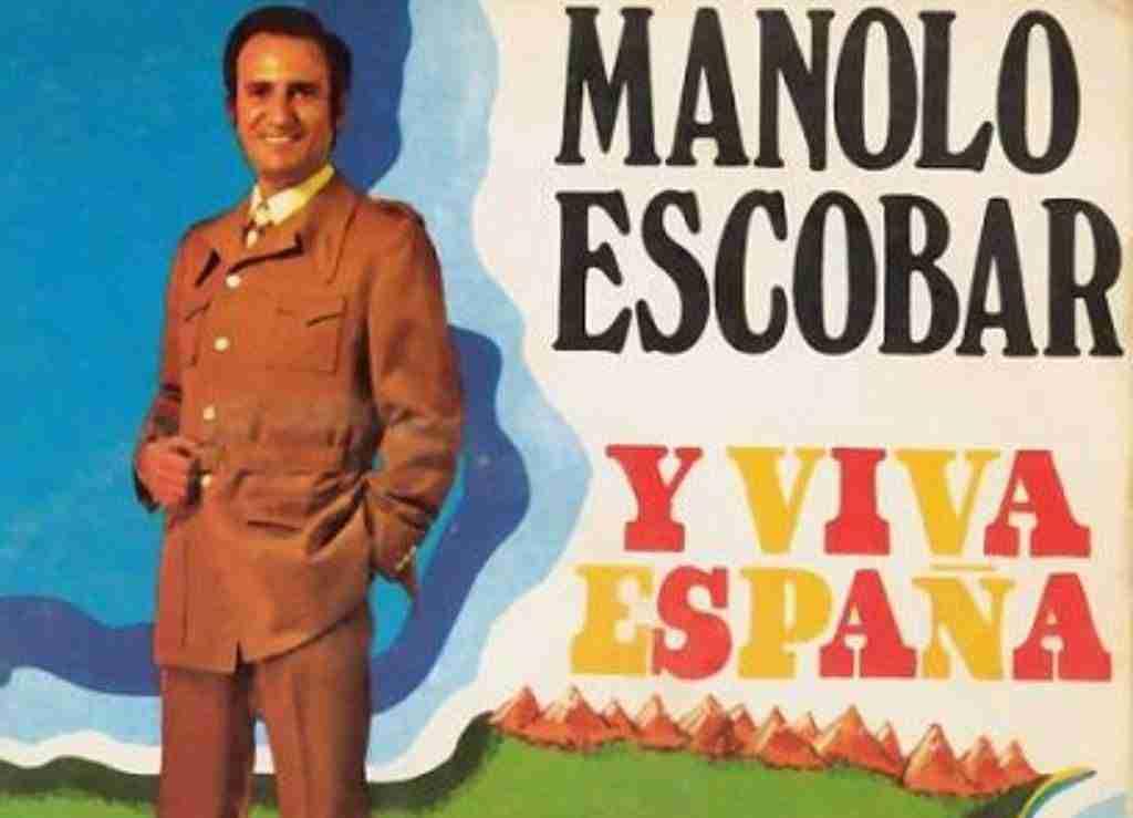 Cartel del Y Viva España de Manolo Escobar