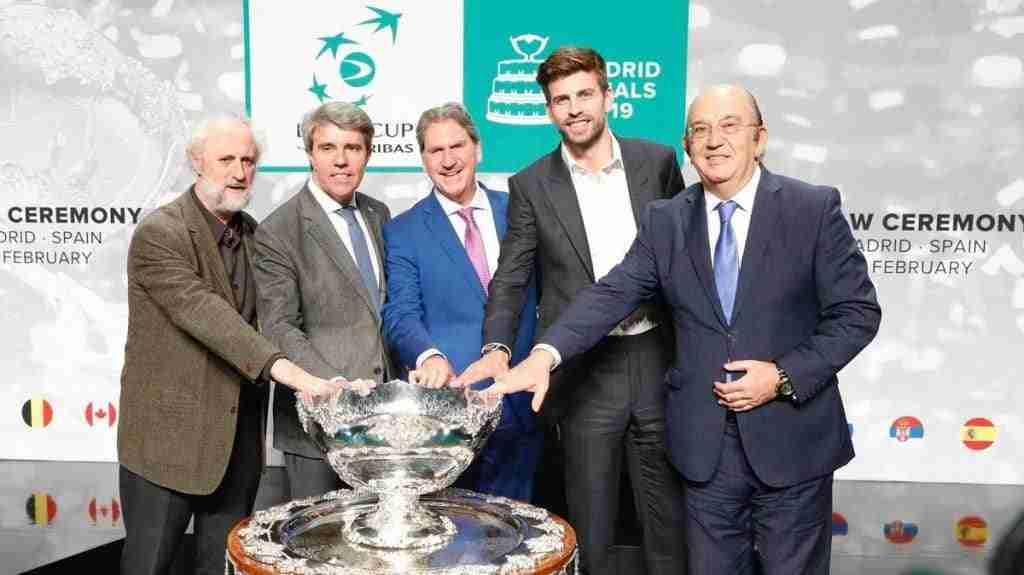 Parte del equipo organizador de la Copa Davis de Madrid 2019, con Gerard Piqué a la cabeza.