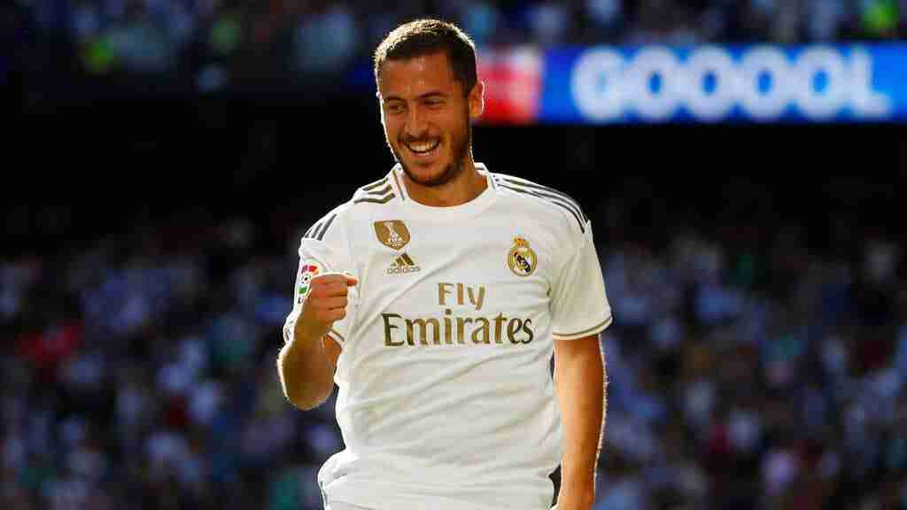 Eden Hazard celebra un gol Real Madrid