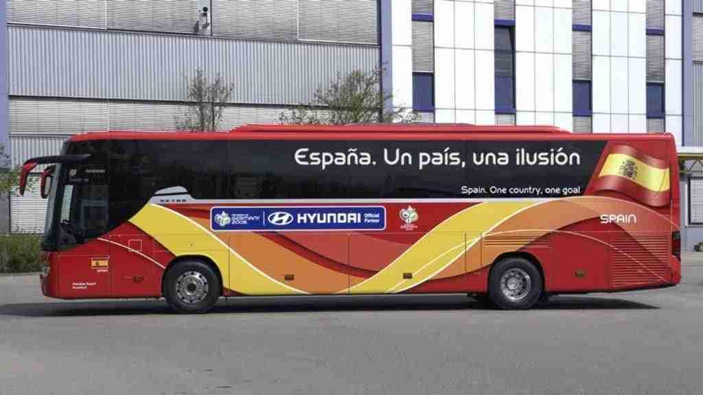 Autobús de la Selección Española durante el Mundial de Alemania 2006