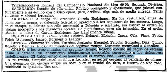 Castellón 1-1 Betis