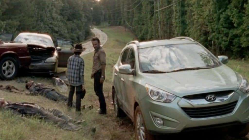 "Product Placement(emplazamiento de product) de Hyundai en la serie ""The Walking Dead"""