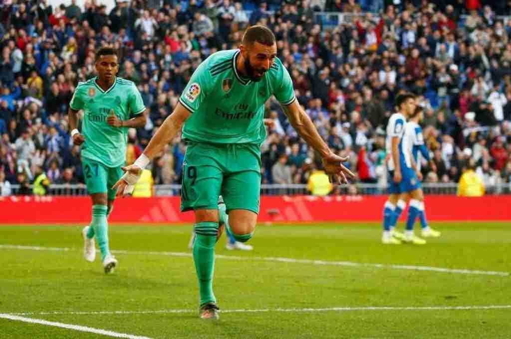 Karim Benzema marca al Espanyol
