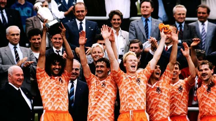Holanda celebra eurocopa 1988