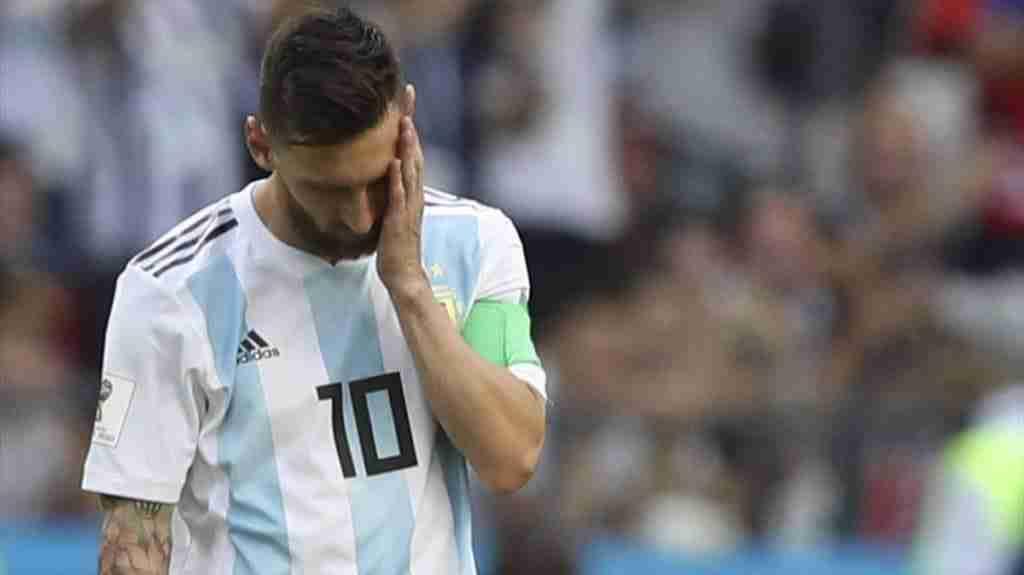 Messi tras caer eliminado por Francia en el Mundial de Rusia