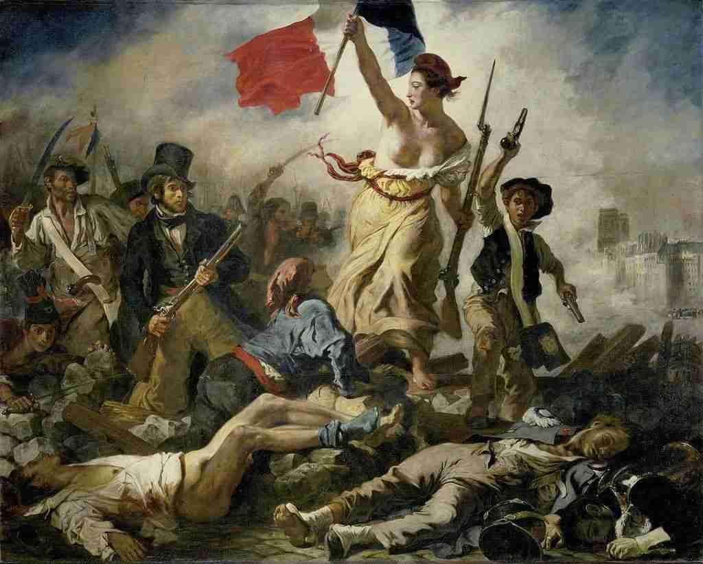 La libertad guiando al pueblo, de Delacroix